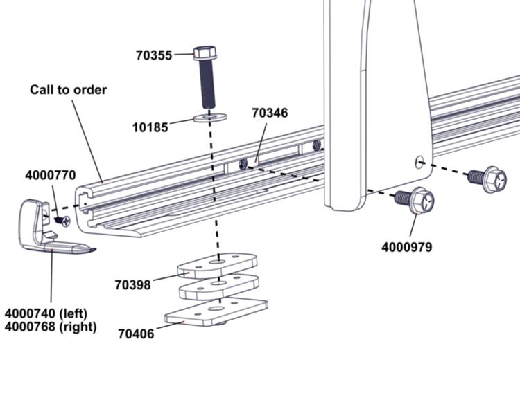 adarac aluminum series replacement parts
