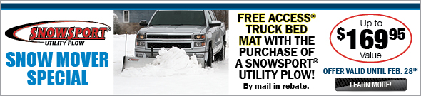 Buy a Snow Plow and get a FREE Truck Bed Mat
