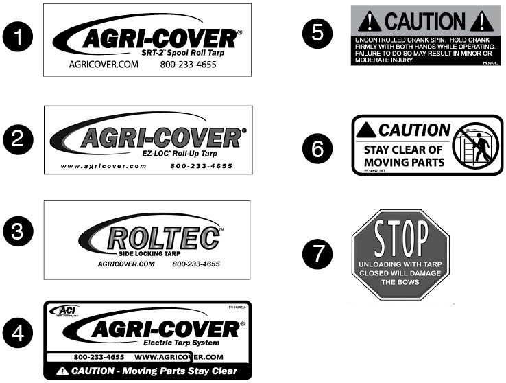 Aci Roll Tarp Decals For Farm Trucks Seed Tenders And