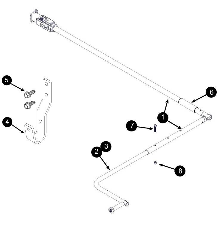 Folding Crank Handle Amp Holder For Semi Tarps Agri Cover