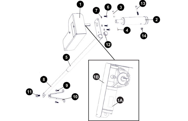 Ez Loc Roltec Electric Tarp Motor Parts Agri Cover