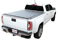 White CMC Canyon with TonnoSport Tonneau Cover