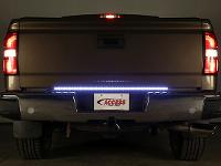 Back-Up Light on Brown Pickup Truck