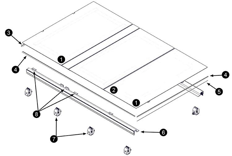 Lomax Replacement Parts Hard Tonneau Cover Parts
